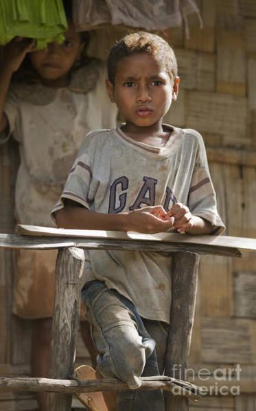 Photograph - Boy And Girl On Porch by Dan Suzio