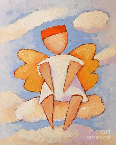 Painting - Boy Angel by Lutz Baar
