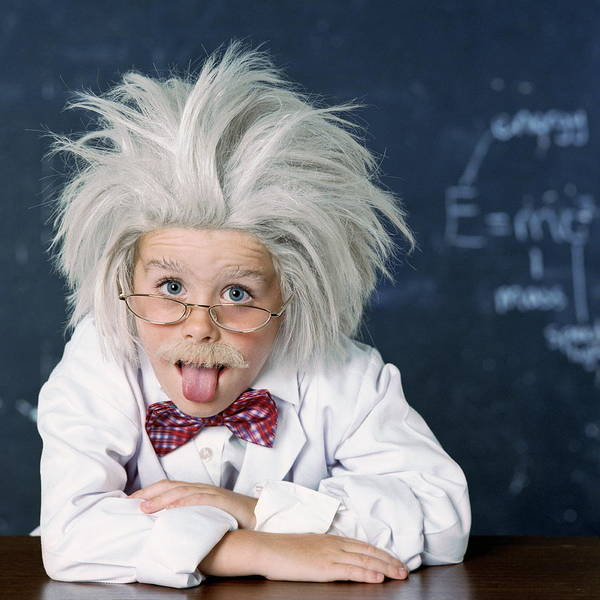 Wall Art - Photograph - Boy Dressed As Einstein by Richard Bailey/science Photo Library