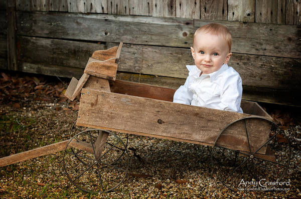 Photograph - Boy In A Wagon by Andy Crawford