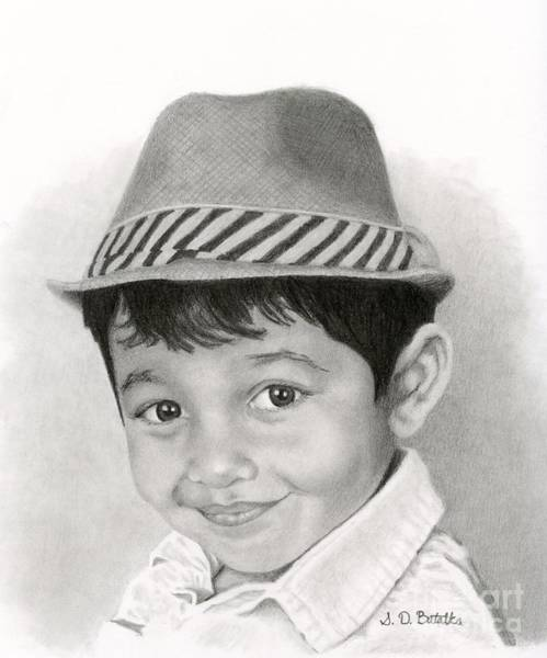 Face Drawing - Boy In Fedora by Sarah Batalka