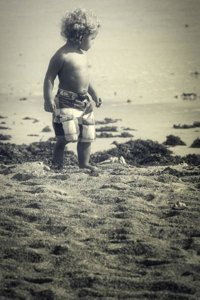 Photograph - Boy In The Beach Sand by Alice Gipson
