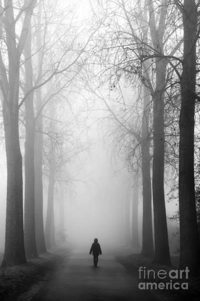 Boy In The Fog Art Print