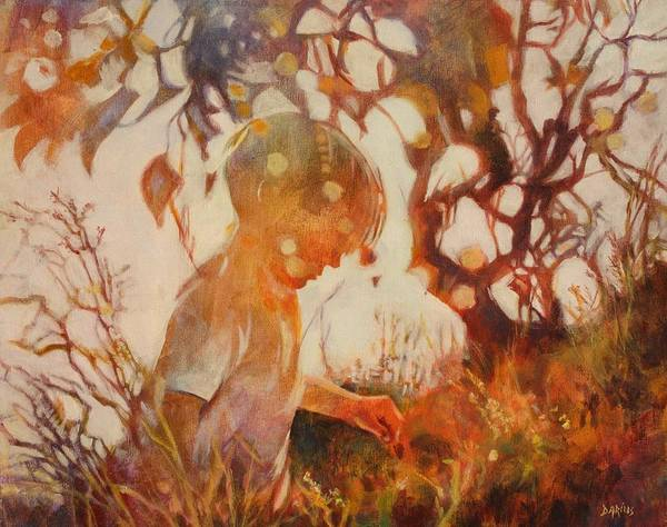 Wall Art - Painting - Boy In The Grass by Sue  Darius