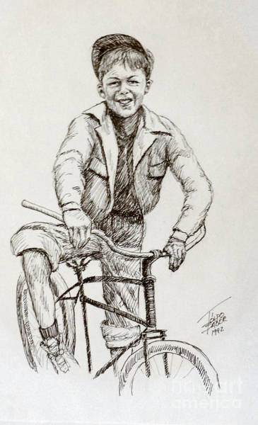 Drawing - Boy Of The 1930s by Art By - Ti   Tolpo Bader