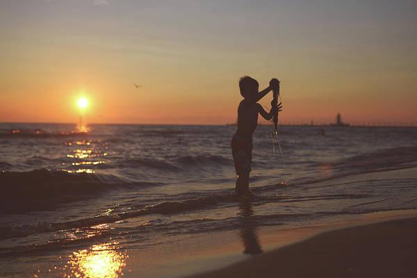 Beach Holiday Photograph - Boy On Beach by Jordan Parks Photography