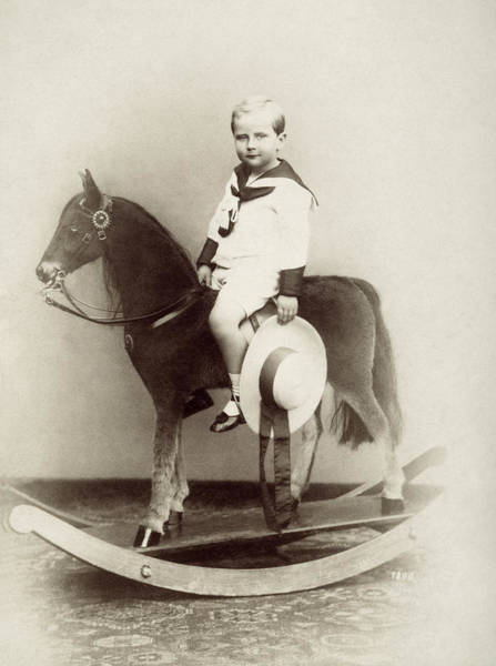 Photograph - Boy On Rocking Horse, 1890 by Granger