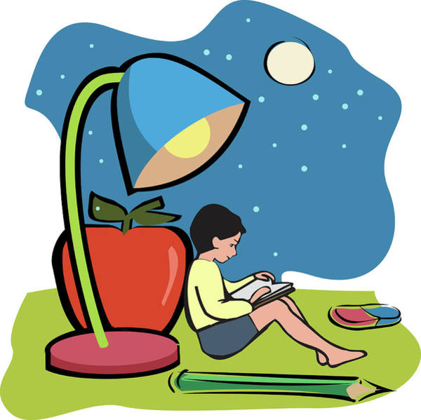 Big Boy Photograph - Boy Reading A Book by Fanatic Studio / Science Photo Library