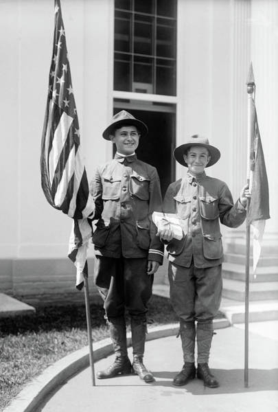 Photograph - Boy Scouts, 1915 by Granger