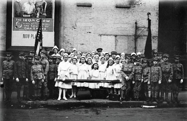 Photograph - Boy Scouts And Nurses by Granger