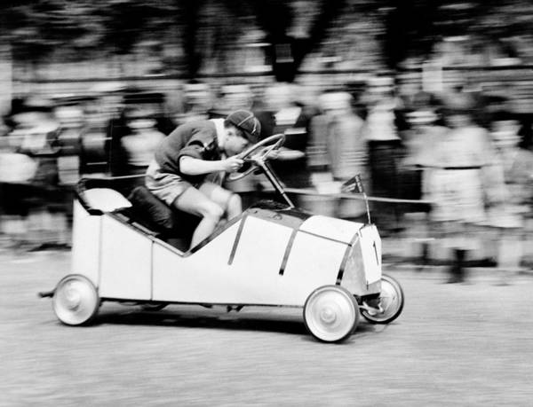 Young Boy Photograph - Boy Scouts Soap Box Derby, 1955 by British School