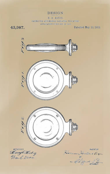 Become One Wall Art - Drawing - Boyce Motometer Patent by Jack Pumphrey
