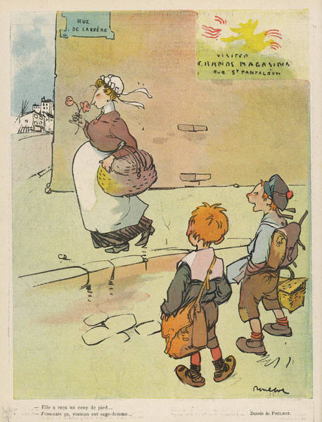Pregnancy Drawing - Boys Marvelling At The Wonders by Mary Evans Picture Library