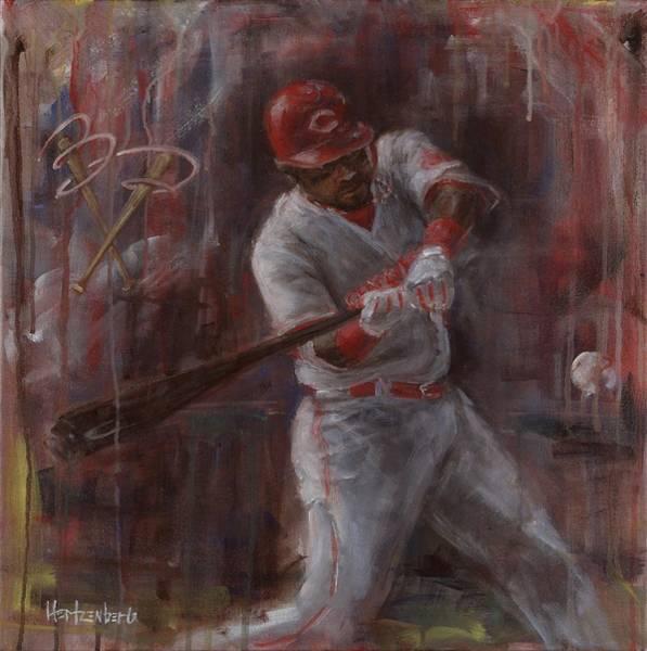 Hitter Painting - B.P by Josh Hertzenberg