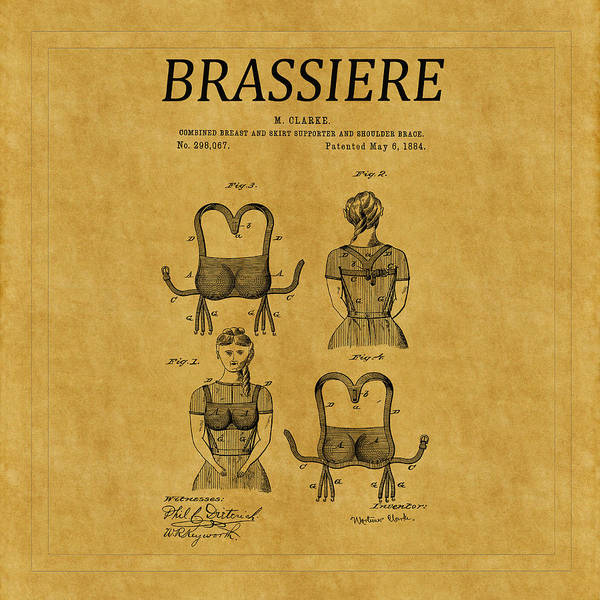 Photograph - Bra Patent 5 by Andrew Fare