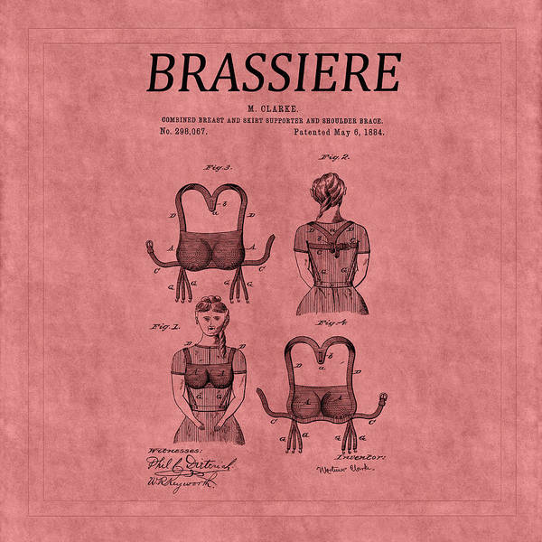 Photograph - Bra Patent 7 by Andrew Fare