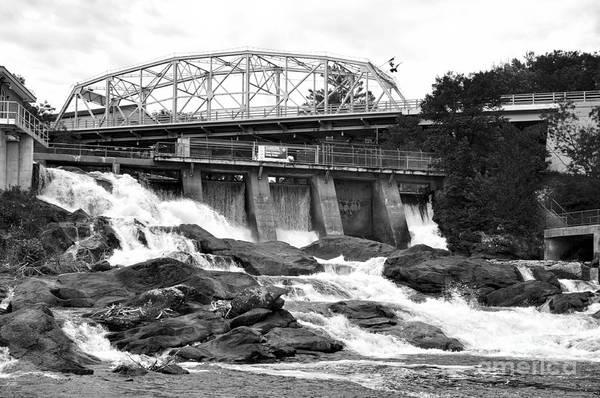 Photograph - Bracebridge Hydro Waterfalls by Les Palenik