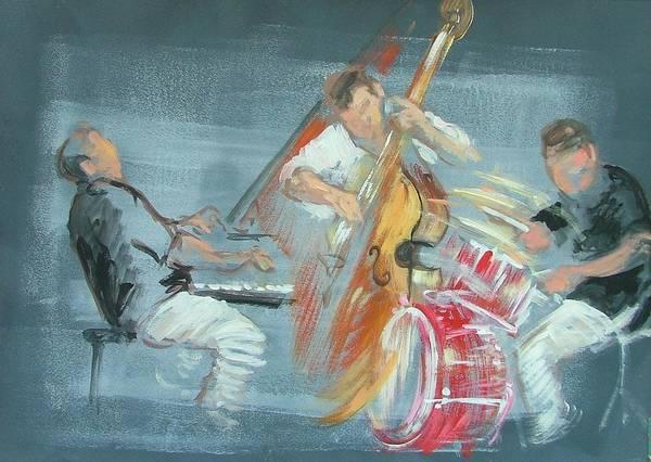 Bass Guitar Painting - Brad Mehldau Trio by Jeni Caruana