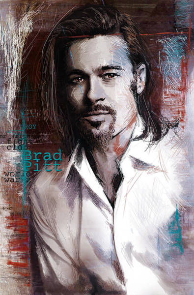 Bollywood Wall Art - Painting - Brad Pitt by Corporate Art Task Force