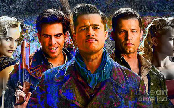 Bollywood Wall Art - Mixed Media - Brad Pitt Original by Marvin Blaine