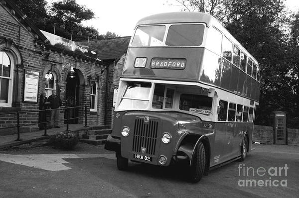 Autobus Photograph - Bradford Bus In Mono  by Rob Hawkins