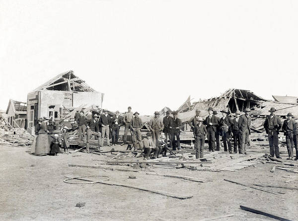 Crisis Photograph - Bradshaw Tornado Ruins by Underwood Archives