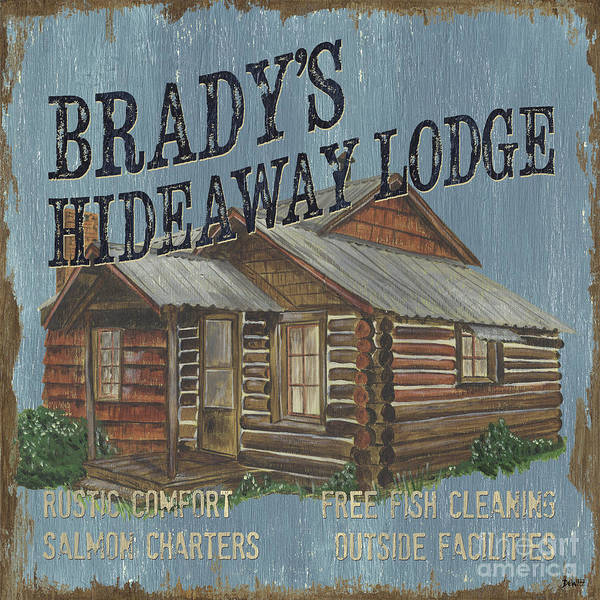 Porch Wall Art - Painting - Brady's Hideaway by Debbie DeWitt