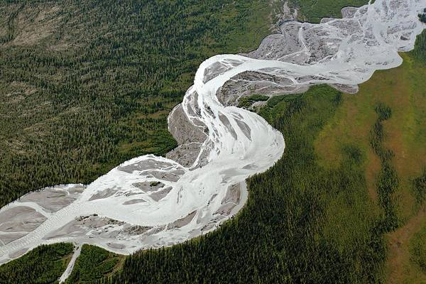 Braided River Art Print by Dr Juerg Alean/science Photo Library