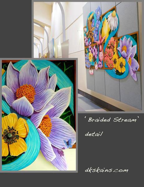 Snapdragons Painting - Braided Stream by Dorinda K Skains