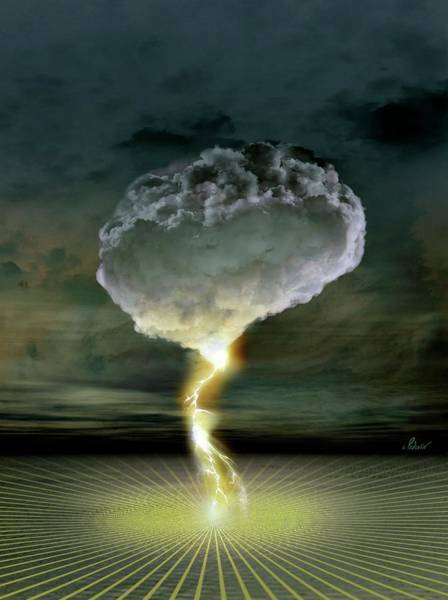 Electric Storm Photograph - Brainstorm by Jean-francois Podevin/science Photo Library