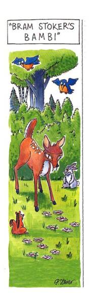Woodland Drawing - Bram Stoker's Bambi by Peter Steiner