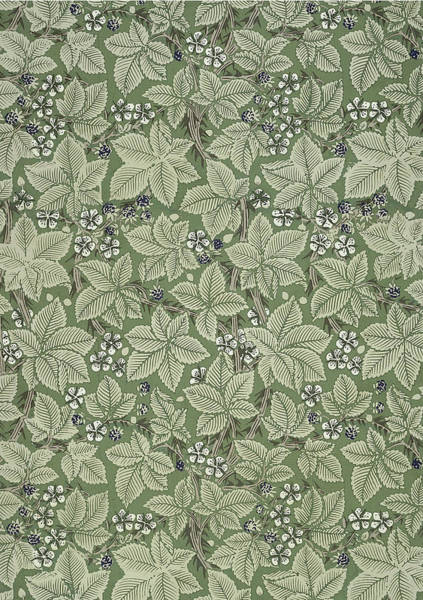 Wallpaper Mixed Media - Bramble Design 1879 by Philip Ralley