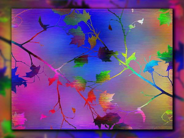 Purple Haze Digital Art - Branches In The Mist 12 by Tim Allen
