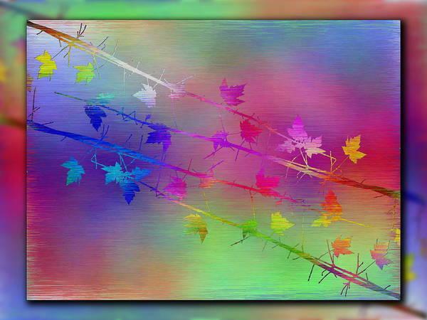 Purple Haze Digital Art - Branches In The Mist 17 by Tim Allen