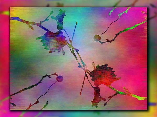 Purple Haze Digital Art - Branches In The Mist 26 by Tim Allen