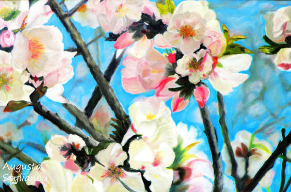Painting - Branches Of Almond Tree by Augusta Stylianou