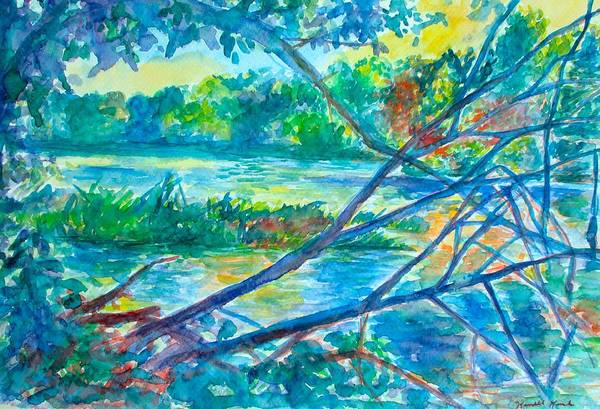 Painting - Branches Over The New River Again by Kendall Kessler