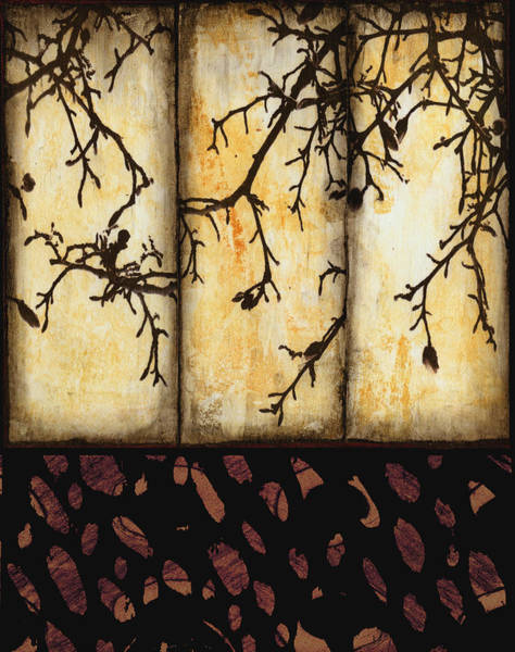 Contrast Mixed Media - Branching by Ann Powell