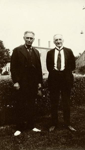 Jacques Photograph - Brandeis And Loeb by American Philosophical Society