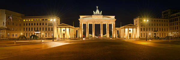 Wall Art - Photograph - Brandenburg Gate Panoramic by Melanie Viola