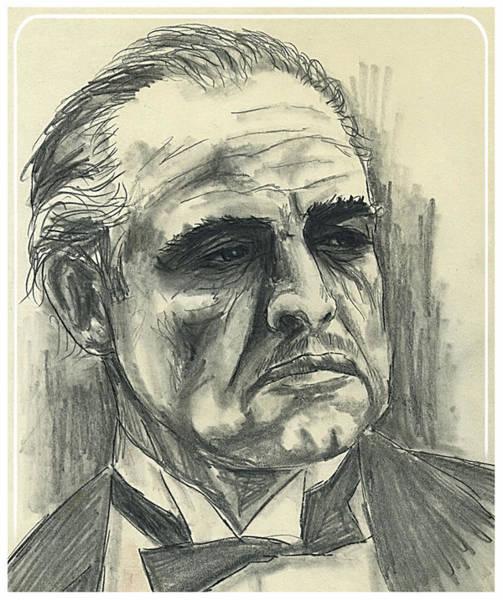 Drawing - Brando by Hartmut Jager
