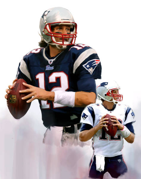 Wall Art - Painting - Brady II  Tom Brady by Iconic Images Art Gallery David Pucciarelli