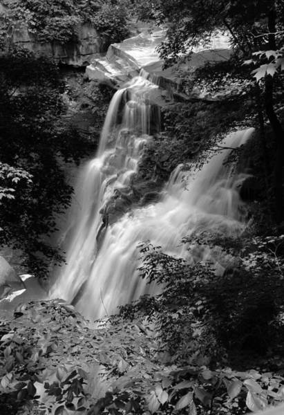 Photograph - Brandywine Falls Black And White by Clint Buhler