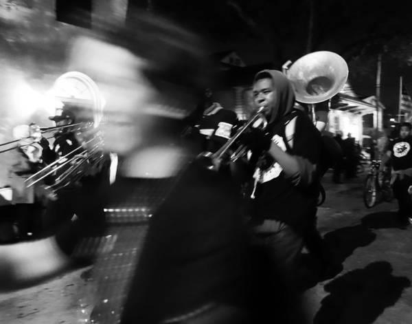 Photograph - Brass Band By Night In New Orleans by Louis Maistros