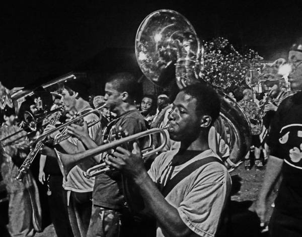 Photograph - Brass Band In New Orleans by Louis Maistros