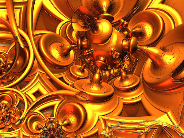 Digital Art - Brass Bulbs by Jeff Iverson