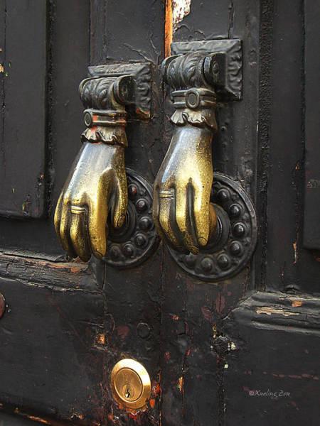 Photograph - Brass Knockers by Xueling Zou