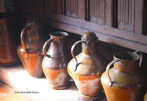 Photograph - Brass Pots From 16th Century Columbus Home by Pat McGrath Avery