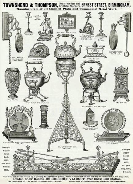 Wall Art - Drawing - Brassfounders And Art Metal Workers by Mary Evans Picture Library