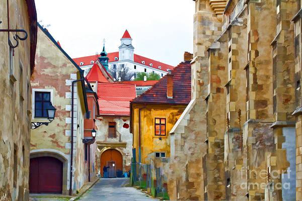 Photograph - Bratislava Old Town And Castle by Les Palenik